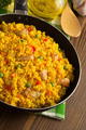 frying pan full of rice on wood - PhotoDune Item for Sale