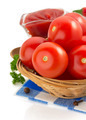tomato and sauce on white background - PhotoDune Item for Sale