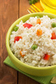 bowl full of rice isolated on wood - PhotoDune Item for Sale