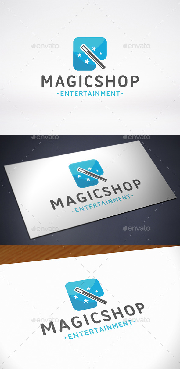 GraphicRiver Magic Shop Logo Template 10682672