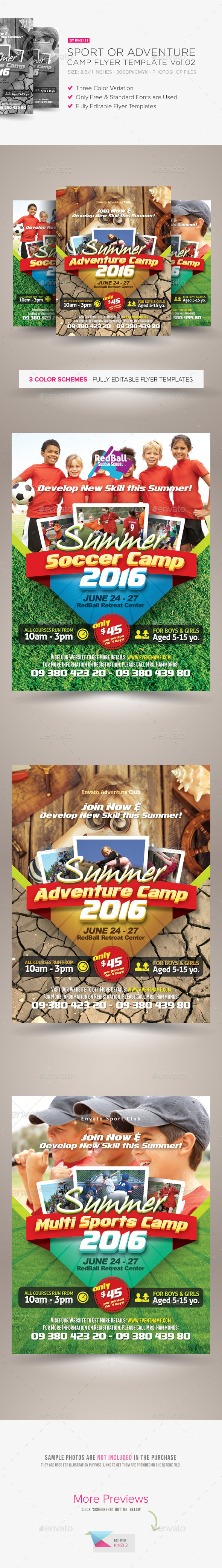 GraphicRiver Sport or Adventure Camp Flyers vol.02 10682726