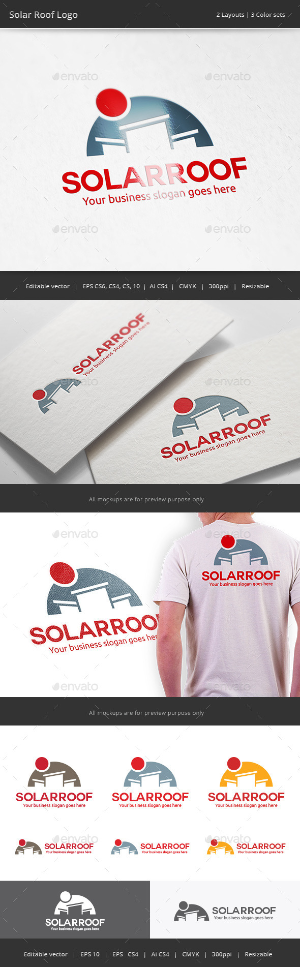 GraphicRiver Solar Cell Roof Logo 10682757