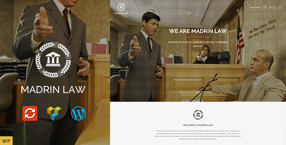 ThemeForest Madrin Law Responsive OnePage WordPress Theme 10474922