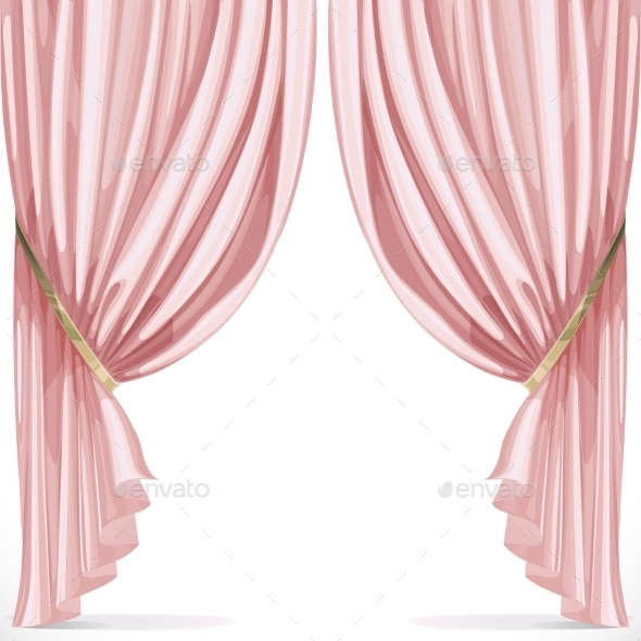 GraphicRiver Pink Curtains 10682947