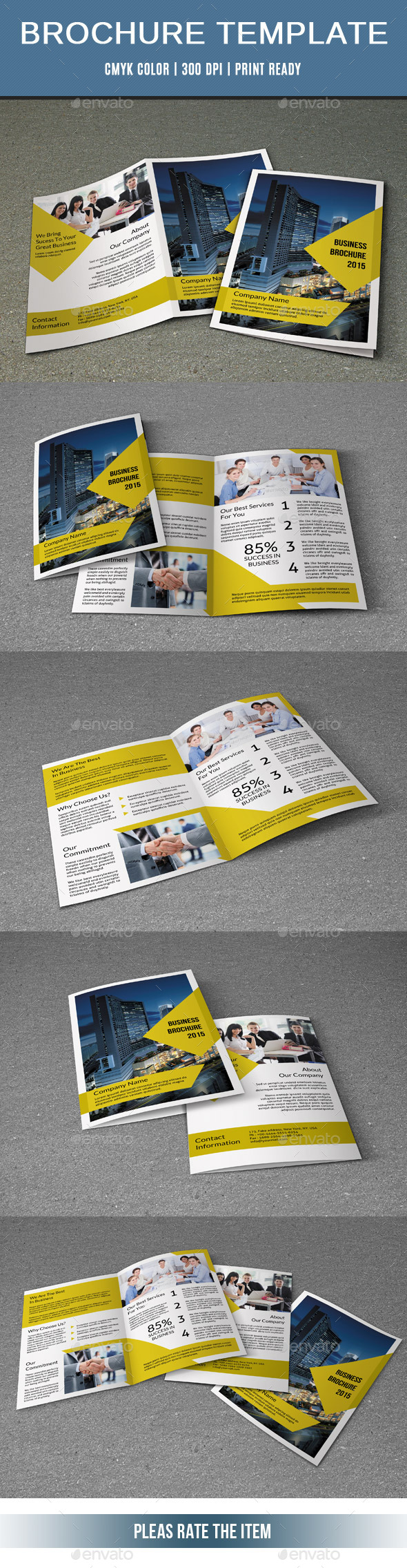 GraphicRiver 4 Pages Corporate Brochure-V222 10682954