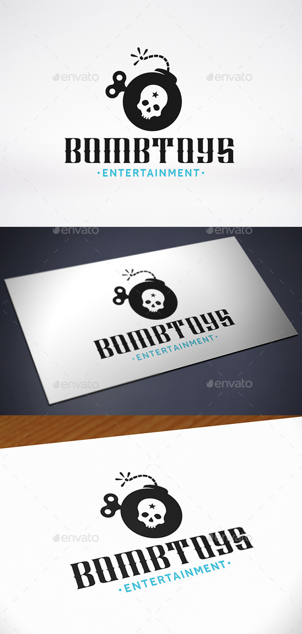 GraphicRiver Bomb Toy Logo Template 10683003