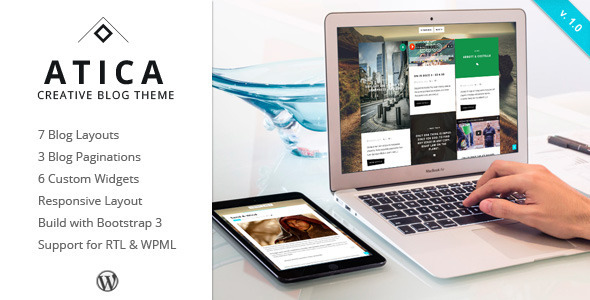 ThemeForest Atica WordPress Creative Blog Theme 10683199