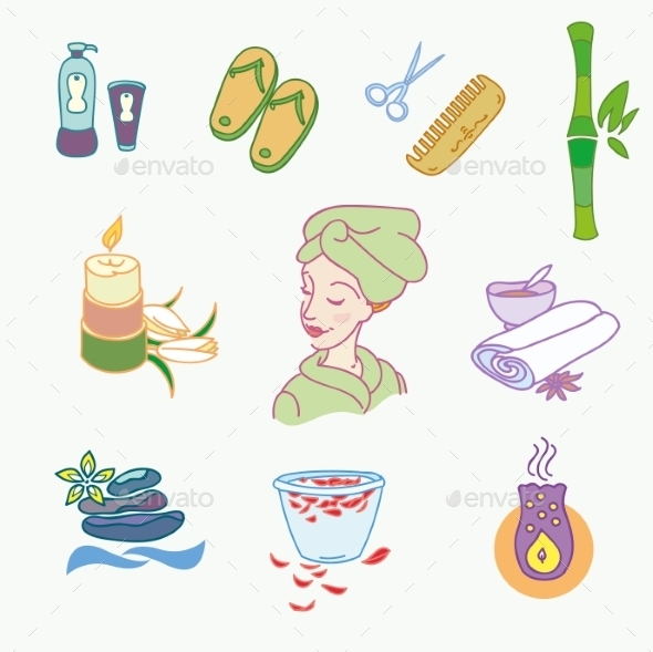 GraphicRiver Spa Doodles 10683228