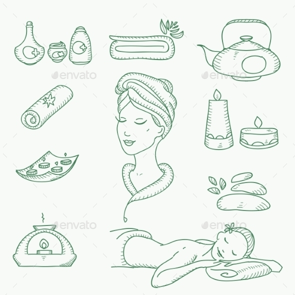 GraphicRiver Spa Doodle 10683233
