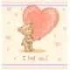 Greeting Card with Teddy Bear