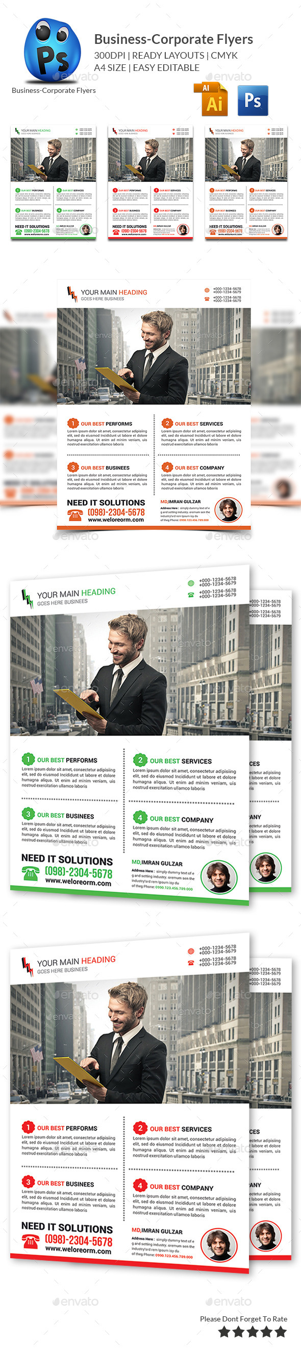 GraphicRiver Corporate Business Flyer Template 10683403
