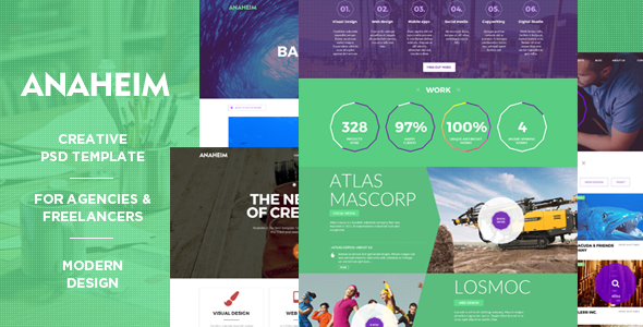 ThemeForest Anaheim Creative PSD template for agencies 10593434