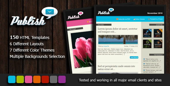 ThemeForest Publish Newsletter 150 email templates 131994