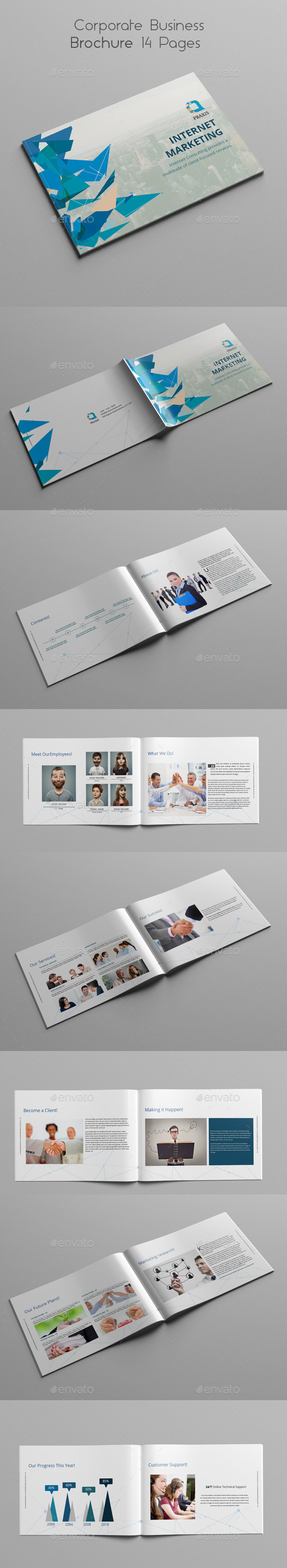 GraphicRiver Corporate Business Brochure 14 Pages 10684032