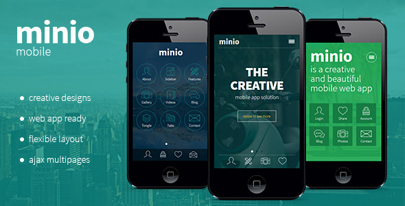 ThemeForest minio HTML Mobile Template 10684269