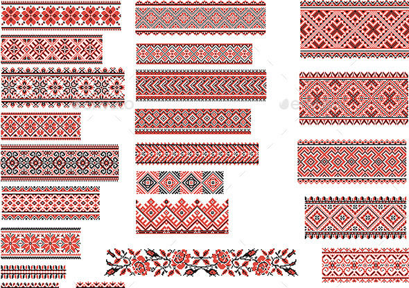 GraphicRiver Patterns for Embroidery Stitch 10663560