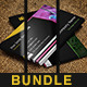 Black Corporate Business Card Bundle 01 - GraphicRiver Item for Sale
