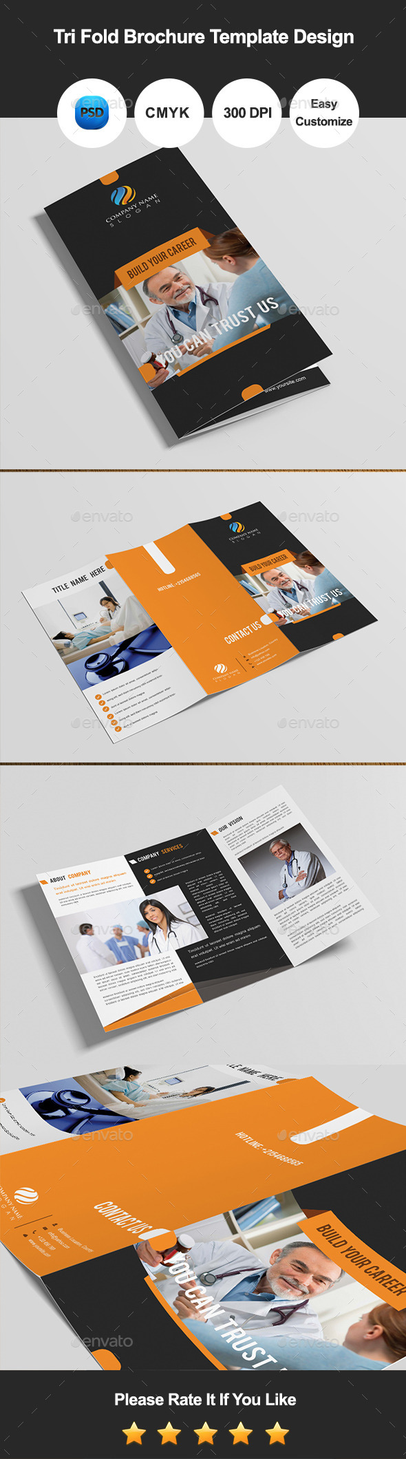 GraphicRiver Tri Fold Brochure Template Design 10684681