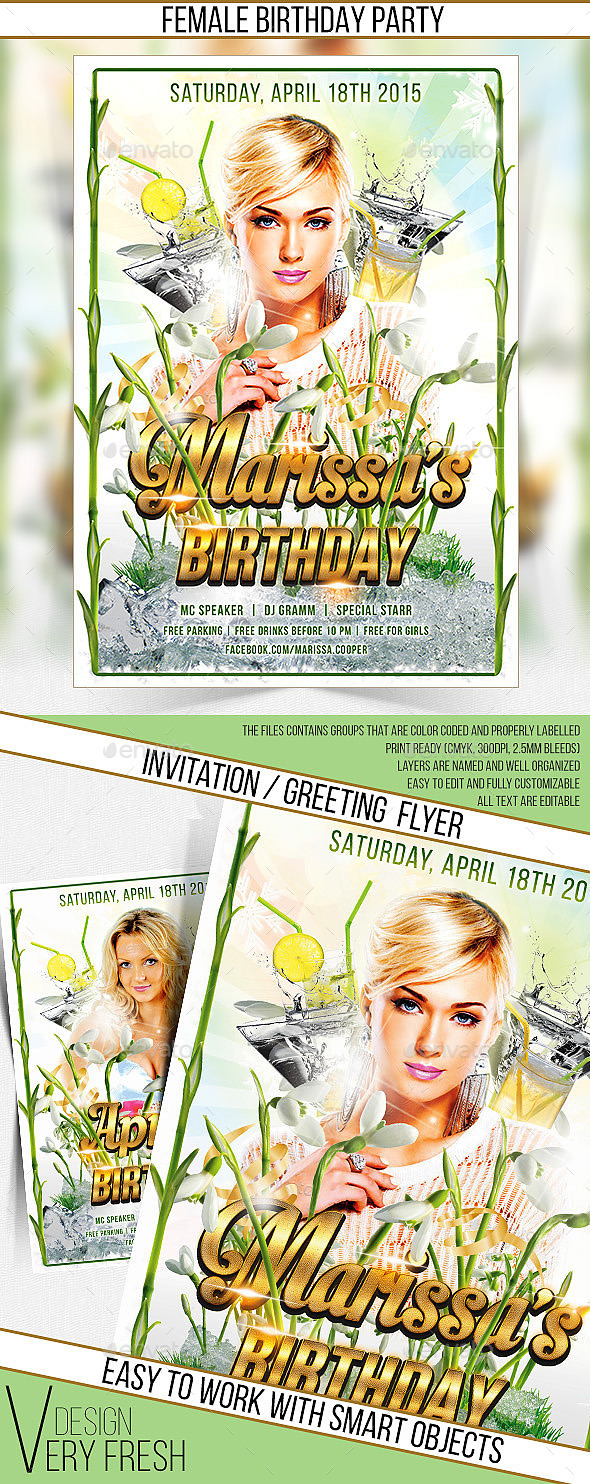GraphicRiver Happy Birthday Party Flyer 10684879