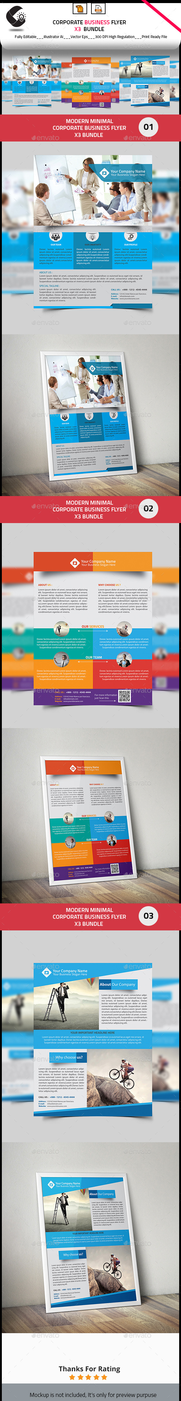 GraphicRiver Corporate Flyer Bundle 3 in 1 10685089