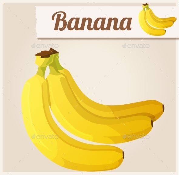 GraphicRiver Banana Detailed Vector Icon 10685090