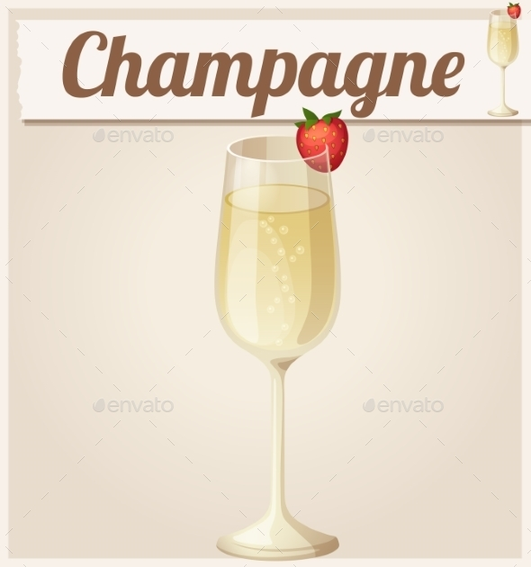 GraphicRiver Champagne with Strawberry 10685123