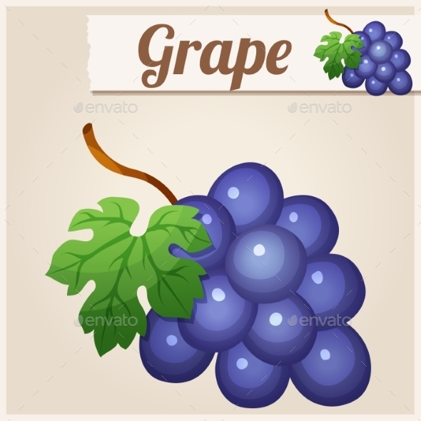 GraphicRiver Grape Detailed Vector Icon 10685126