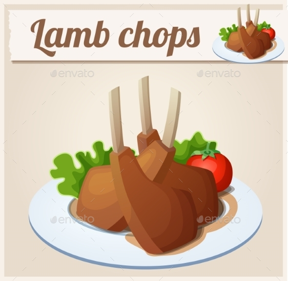 GraphicRiver Lamb Chops Detailed Vector Icon 10685129