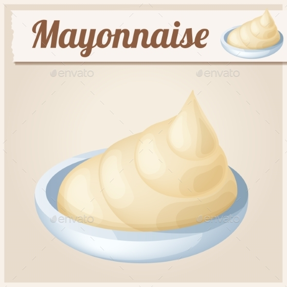 GraphicRiver Mayonnaise Detailed Vector Icon 10685134