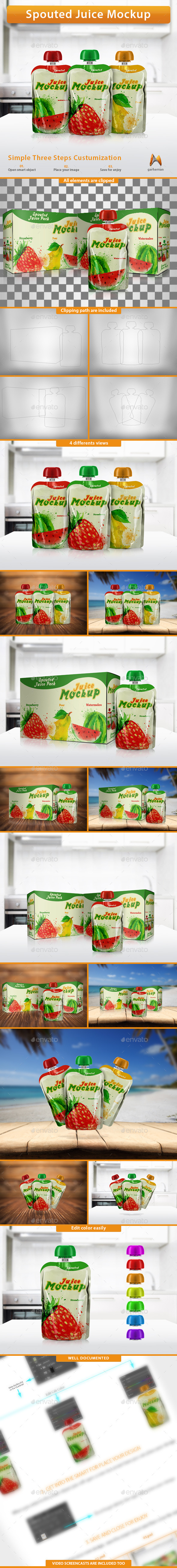 GraphicRiver Spouted Juice Mockup 10685137