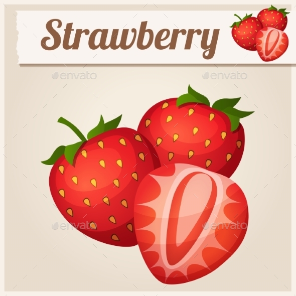 GraphicRiver Three Strawberries 10685139