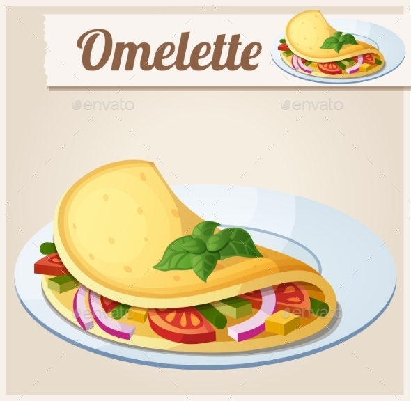 GraphicRiver Omelette with Vegetables 10685162