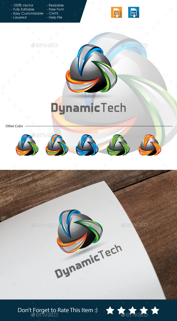 GraphicRiver Dynamic Tech 3D Logo 10685199