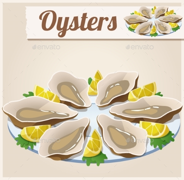 GraphicRiver Oysters Detailed Vector Icon 10685218