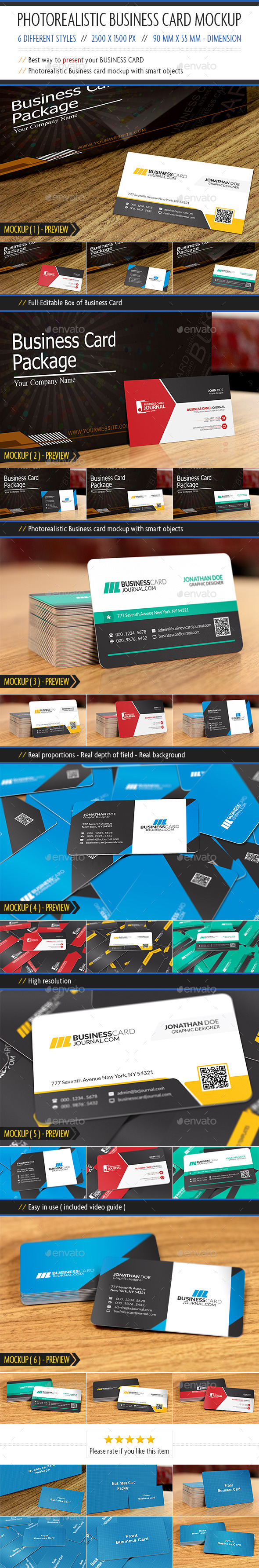 GraphicRiver Photorealistic Business card Mockup 10685263