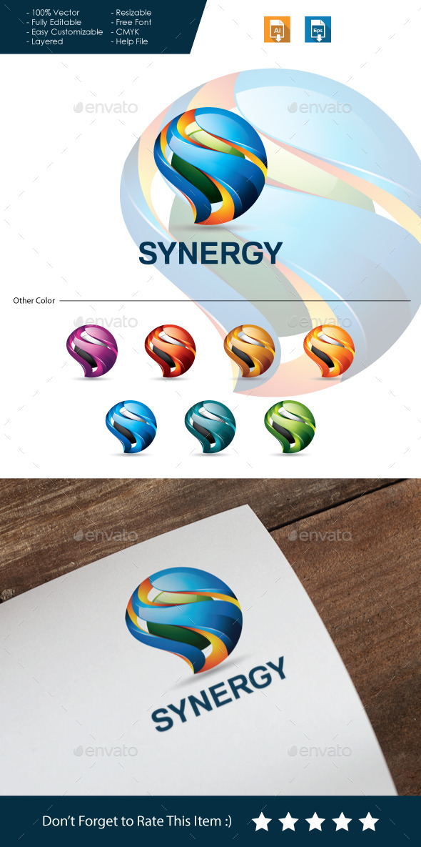 GraphicRiver Synergy 3D Letter S 10685288