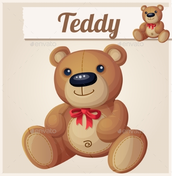 GraphicRiver Teddy Bear with Red Bow 10685348