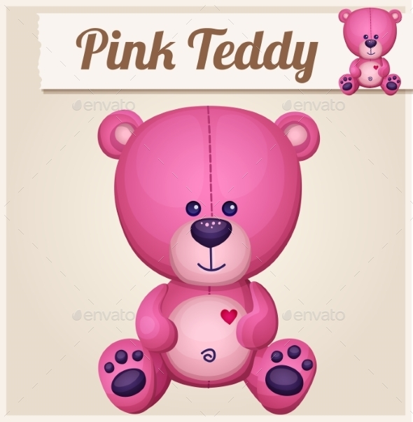 GraphicRiver Pink Teddy Bear 10685369