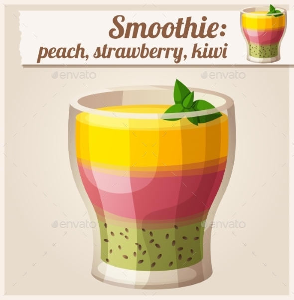 GraphicRiver Smoothie in Glass 10685372