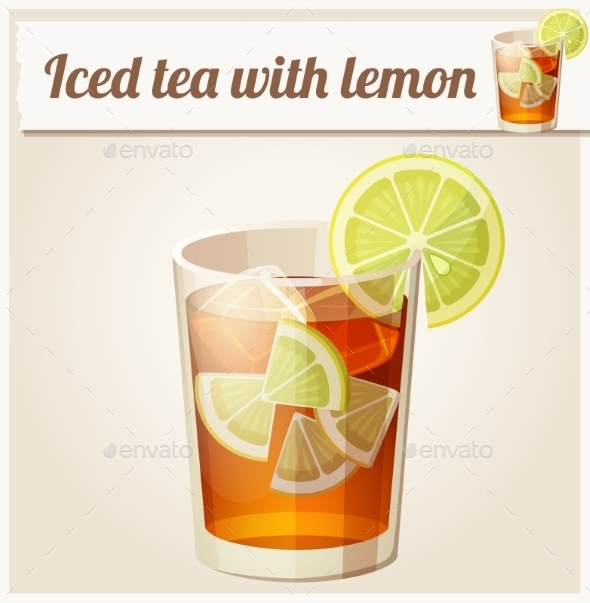 GraphicRiver Glass of Iced Tea 10685526