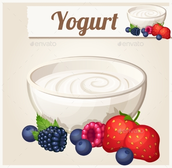 GraphicRiver Yogurt with Berries 10685536