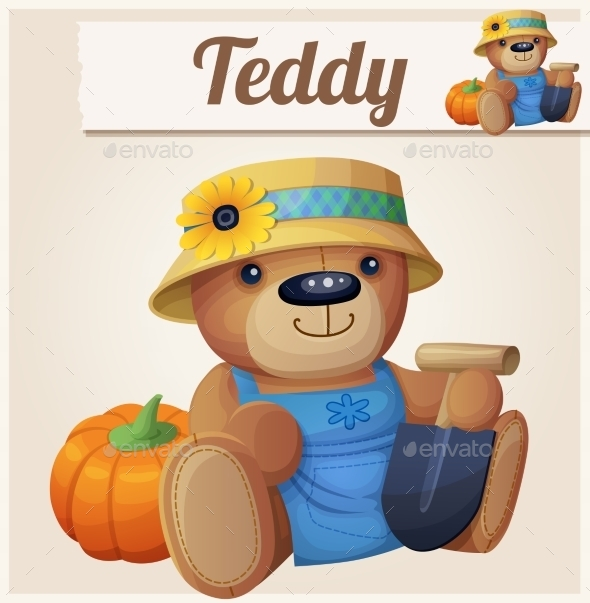 GraphicRiver Teddy Bear the Gardener 10685558