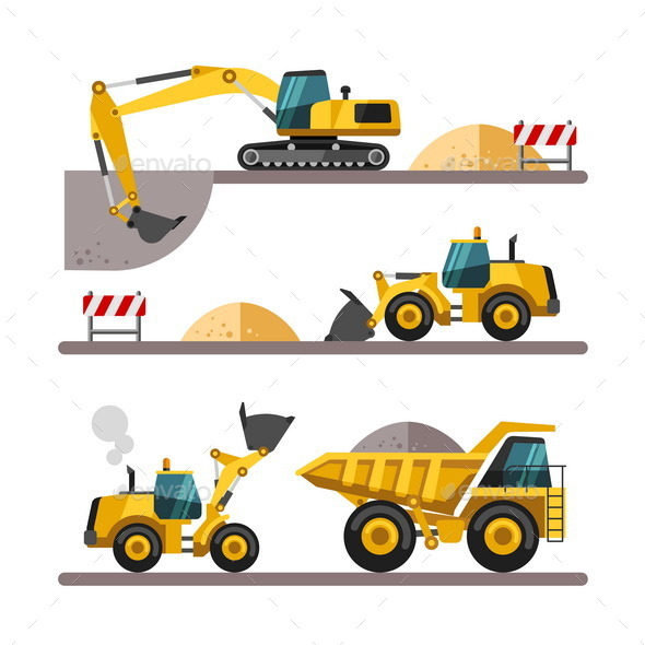 GraphicRiver Construction Equipment and Machinery 10685691