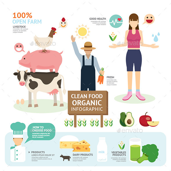 GraphicRiver Organic Clean Foods Good Health Template Design 10685709