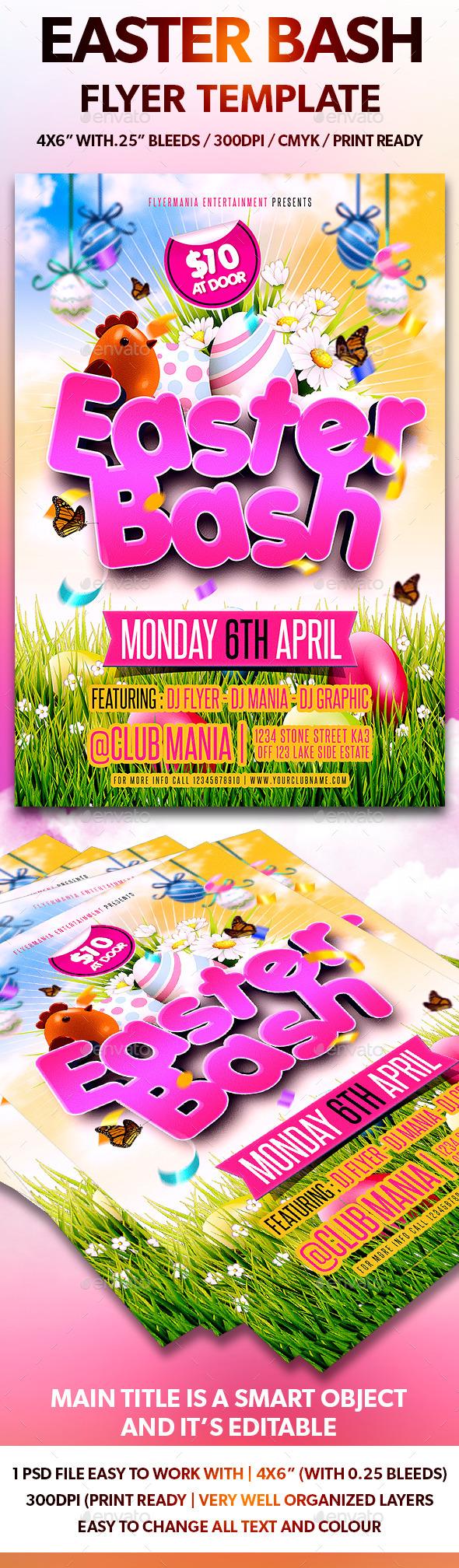 GraphicRiver Easter Bash Flyer Template 10685750