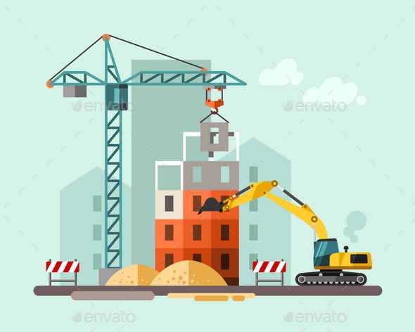 GraphicRiver Construction Site 10685835