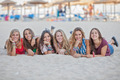 group on holiday on Calvia beach, Majorca Spain - PhotoDune Item for Sale