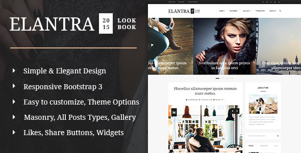 ThemeForest Elantra 2015 Elegant Personal Blogging Theme 10576274