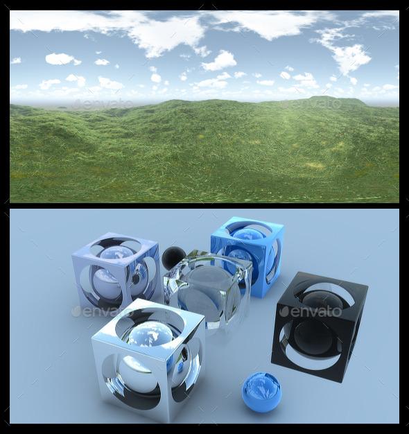 3DOcean Open Grass Field HDRI 10686196