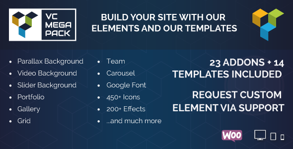 CodeCanyon Visual Composer Mega Pack Addons and Templates 10686199
